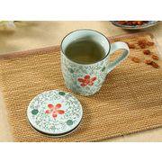 【強化】 蓋付マグカップ(赤いコスモス)   コップ/カップ/和食器