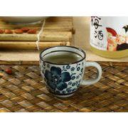 【強化】 エスプレッソコーヒーカップ(青い椿)(75ml)   コップ/カップ/和食器
