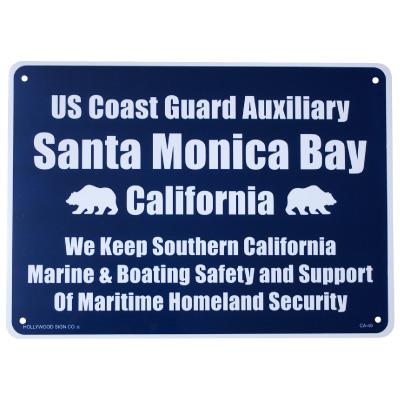 プラスティックサインボード CA-40 サンタモニカ湾岸警備隊
