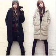 大きいサイズ マキシ中綿コート 膝丈綿入りジャケット  レディースアウター  ロング丈 防寒着