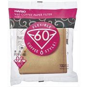 HARIO V60用ペーパーフィルターみさらし02袋 1~4杯用・100枚入 (02袋)