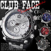 ☆club face black メンズ メタル 腕時計☆CF-1060