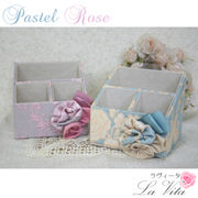 パステルローズシリーズ スタンドボックス<薔薇 ローズ コサージュ リボン 収納>