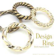 """★L&A Original Parts★K16GP&金古美★ハンドメイド★デザインリングパーツ♪164 """"Design Ring"""""""