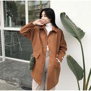 アンティーク調 秋冬バージョン ルース 何でも似合う 中長デザイン スーツの襟 シングル
