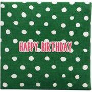 現代百貨 ミニ メッセージブック HAPPY BIRTHDAY グリーン