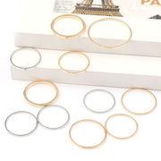 円形 丸型 UVレジン空枠 フレーム レジンクラフト 5サイズ 金 銀 ペンダントトップやピアスに 埋込み