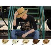 UVカット UV 紫外線対策 帽子 メンズ つば広 キャペリン 麦わら帽子