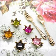 "▼80%off▼SALE▼L&A Original Parts★金古美color★かわいいチャーム♪パーツ♪19 ""Crystal Crown"""