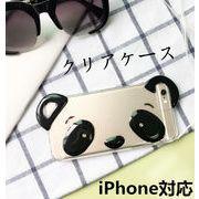 iPhone5s ケース パンダ iPhone6s iphone7 Plusクリアケース ストラップ付き