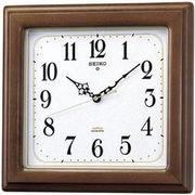 SEIKO セイコー 掛け時計 電波 アナログ 四角型 木枠 茶木地 KS298B