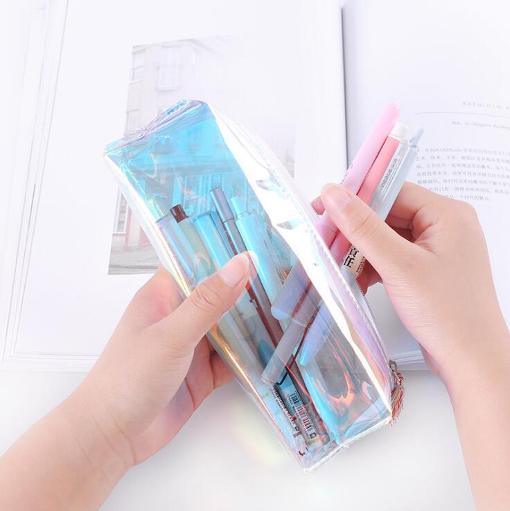 ペンケース 化粧ポーチ 小物入れ 歯ブラシケース 透明