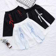 紐で編み上げ ミニスカート インナーパンツ有り 大人気