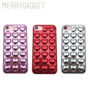 【MERRYGADGET】[iPhone8対応] HOLIC Metallic Heart iPhone7 ケース カバー