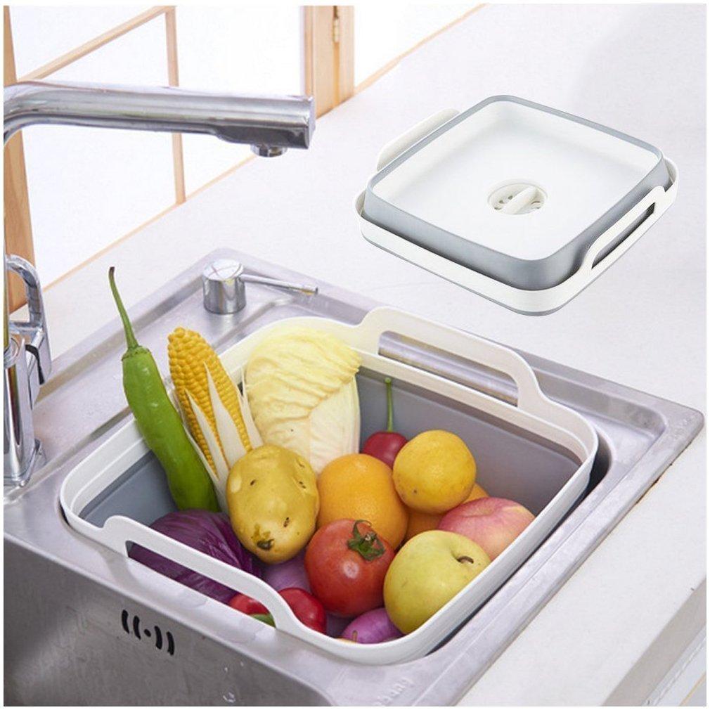 折り畳み式水切り野菜洗いかご