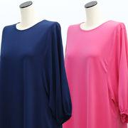 【秋物】レディース シャツ ゆったりサイズ 丸首 ドルマン 七分袖 Tシャツ 7枚セット