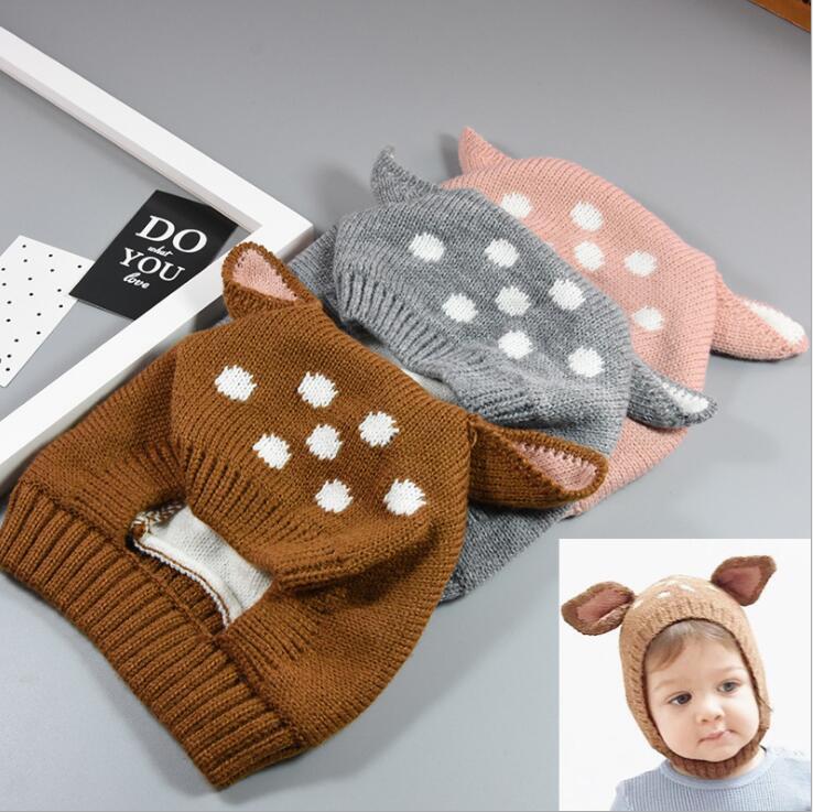 【ベビー用】ニット帽 ハット ベビー 可愛い 耳を守る 秋冬 帽子 ファション 5色