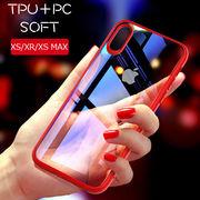 スタイリッシュなクリア素材PCxTPUハイブリッドケースiPhoneXS MAX XR XS 3色