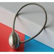 高品質 ワイヤーロープ サッカー キーホルダー