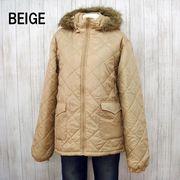 【冬物アウター】ファーフード付き メンズ中綿フルジップジャケット