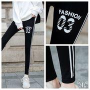メール便730356】大きいサイズ 韓国 ファッション ジーパン レギンス パンツ 3L 4L 英字 03 プリント