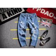 春夏新作メンズジーンズ ズボン大きいサイズ おしゃれ
