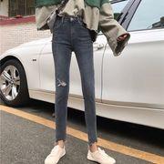 第1 番 ピープル ホーム 韓国風 着やせ 着やせ 穴あき 女性のジーンズ フィート