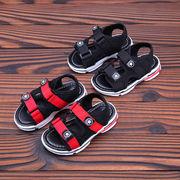 男児 サンダル 夏 新しいデザイン 児童 靴 韓国風 ソフトボトム つま先露出 サンダル