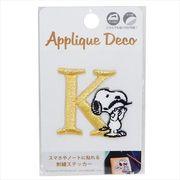 【ウォールデコステッカー大】スヌーピー 刺繍 ステッカー/K