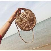 2色☆2019新作お花見/海辺編みバッグ★☆可愛い☆カゴバッグ 2wayバッグ
