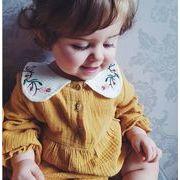 2019大人気★アパレル★女の子子供服★キッズ服★赤ちゃん着ロンパース+帽子★可愛い花刺繍2点セット