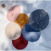 子供ベレー帽 帽子 秋冬 ニット帽 ファション 9色 子供ハット 可愛い帽子