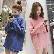 全5色★リブ編みニットセーター 韓国ファッション タートルニット