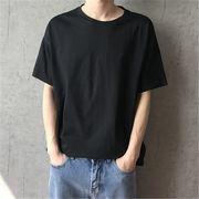 2019 夏 ゆったりする 半袖 Tシャツ ボーイ 男の子ファッション トップス ブラック
