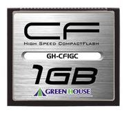 コンパクトフラッシュ(スタンダードモデル) 1GB GH-CF1GC