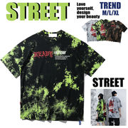 2020春夏新作 男女共用 ストリート系 原宿系  半袖  ダンス Tシャツ メンズ