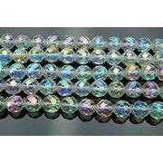 オーラ水晶64面カット 8mm 1連(約38cm)_R306/A6-5