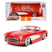 JADATOYS 1/24 BTM 1957 Chevy Corvette ミニカー