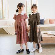 ワンピース チェック キッズ 女の子 韓国子供服 2020新作 SALE ファッション 動画ありm14815