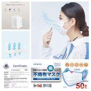 【即日発送】白色 使い捨て 不織布  マスク レギュラーサイズ  防塵 花粉 飛沫感染  男女兼用