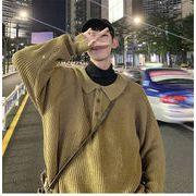 ニット メンズ セーター ★ハニカムVネックニット★ トップス ニット セーター メンズ 無地 長袖