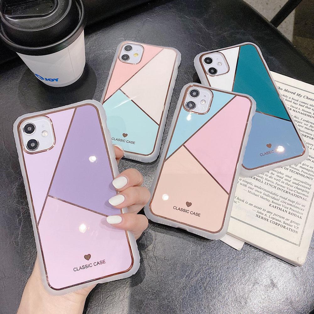 マーブル風 スマホケース iphone ケース 韓国 iPhone6〜iPhone12 ProMaxケースカバー