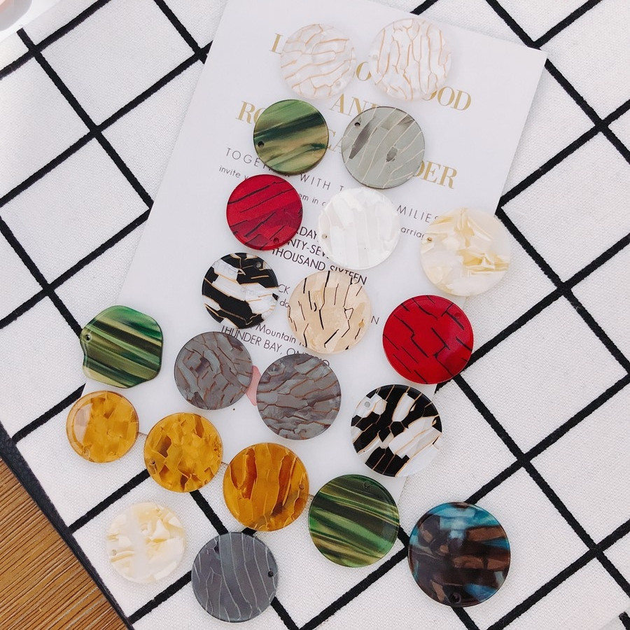 【即日発送】デコパーツ ハンドメイド ピアス イヤリング DIY材料 アクセサリーパーツ アクリル素材