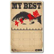 釣りステッカー 記入式 マイベスト チヌ クロダイ 黒鯛 FS148 フィッシング ステッカー 釣り グッズ