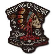 バイカーステッカー BIKER STICKER バイク ハーレー ヘルメット インディアンスカル 01 骸骨 ドクロ BK018