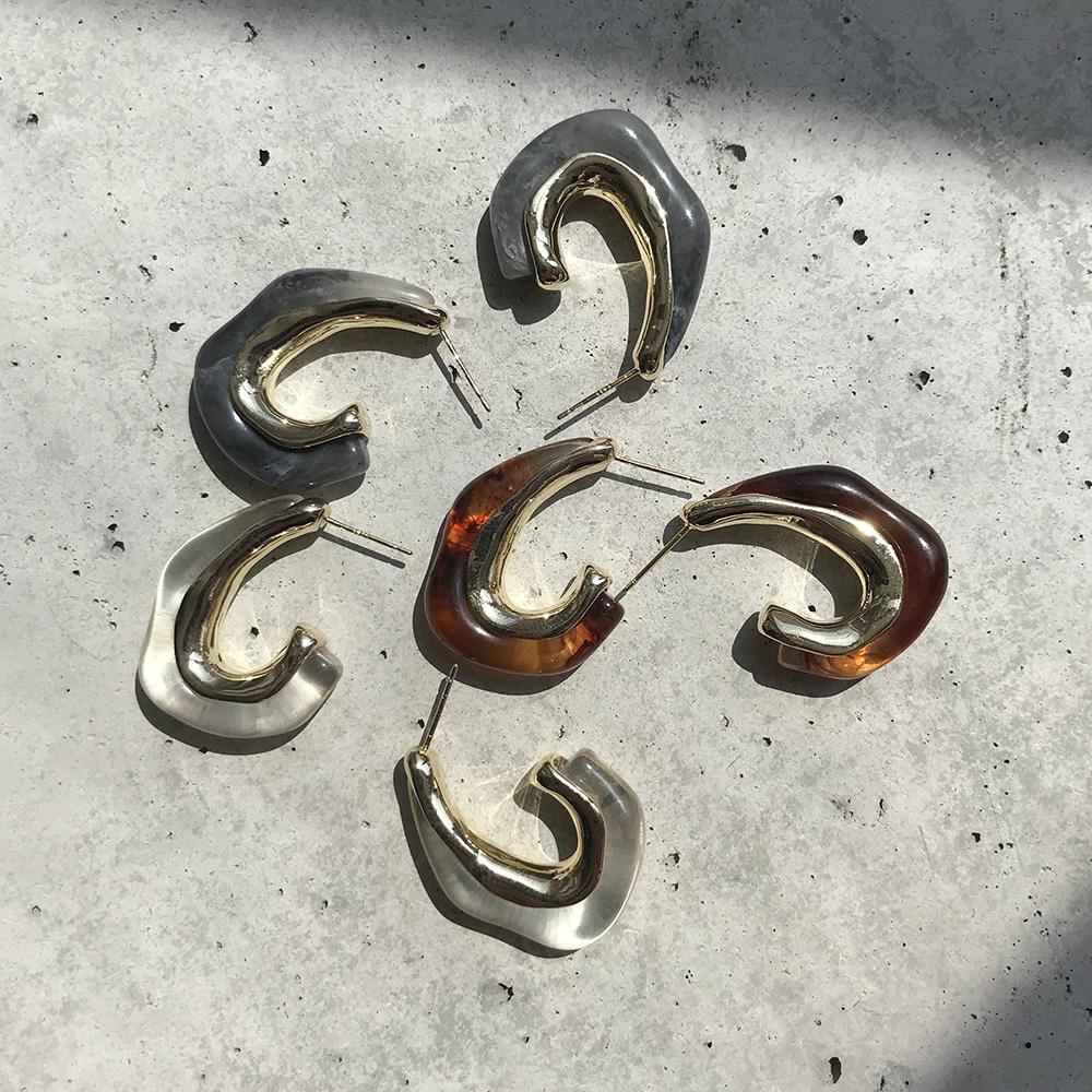 アクリルピアス イヤリング silver silverpierce シルバー925 ◆メール便対応可◆