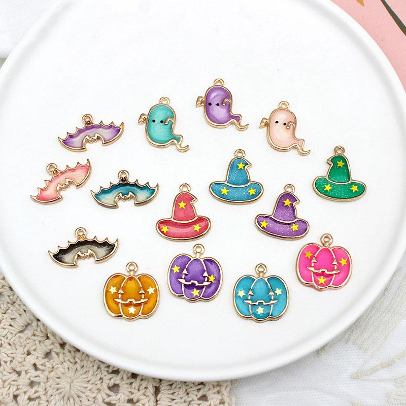 ハンドメイド アクセサリー パーツ エポチャーム パステル ハロウィン かぼちゃ パンプキン ゴースト 帽子