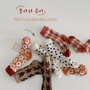 韓国子供服  秋服 靴下ソックス可愛い柄物セット