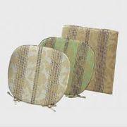LN1415 川島織物セルコン 花とストライプ シートクッション 48×48 ベージュ