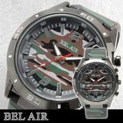 【ミリタリー仕様】★Bel Air Collection ミリタリー メンズ腕時計 OSD32xGRE  【保証書付】